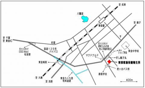 東部家保(地図)/千葉県