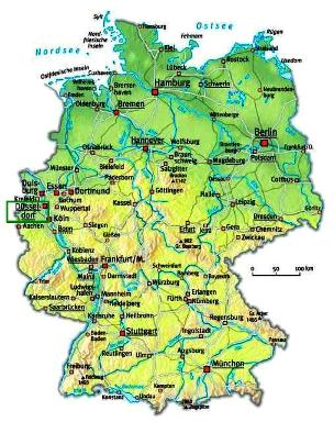 map of Dusseldorf City