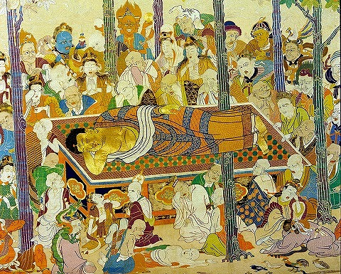 菱川親子の釈迦涅槃図