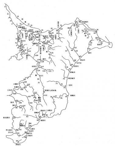 公共用水域水質測定地点位置図(河川)